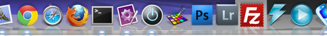 Screen capture of Icon in the OSX Dock